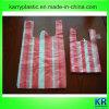 Sacchetti della maglietta dell'HDPE con la banda variopinta