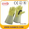 De echte Handschoenen van het Werk van het Lassen van de Bedrijfsveiligheid van het Leer van de Zweep (11125)