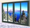 青いカラーのアルミニウムドア