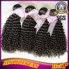 バージンのブラジルの人間の毛髪のアフリカのジェリーのカールの毛の織り方