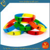 Изготовленный на заказ Segmented Silicone Wristbands для Gift Sets