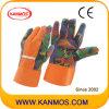Печатные перчатки цветок промышленной безопасности хлопок Сад работы (41005)