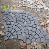 LandscapingのためのSt018 Black Slate Fan Shape Paving Stone