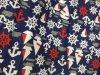 Stof van de Polyester van de Perzik van het Overhemd van de Strandkleding van het anker de Borrels Afgedrukte