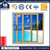 Windows coulissant en verre en aluminium pour le balcon