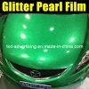 Уникально зеленая фольга винила перлы диаманта