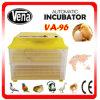 Prix complètement automatique approuvé de machine d'incubateur de la CE de 96 oeufs de poulet