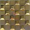 Mozaïek van het Staal van Stinless van de Kleur van de Vorm van het voor- en tegenspoed het Gouden (CFM916)
