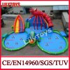 Outdoor gigante Inflatable Water Park Lobster Water Park Inflatable Water Park con Double Pools (AWP-009)