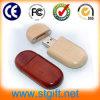 Impression en bambou de logo de lecteur flash USB en bois naturel de couleur