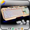 Notizbuch-Tischplattenhandhaber USB-Kabel-Metallglühen-Spiel-Tastatur