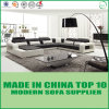 Самомоднейшая кровать софы неподдельной кожи дома конструкции отдыха