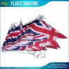 Bunting van de driehoek Vlag, de Vlaggen van het Koord van Union Jack, Britse PE Buntings (j-NF11F06021)