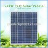 200W de alta eficiencia Poli Renewable Energy Saving módulo del panel solar