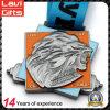 Изготовленный на заказ дешевое поднятие тяжестей логоса льва заливки формы резвится медаль