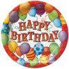 Porción disponible del vajilla de la placa de papel del feliz cumpleaños