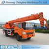 Organizzazione degli elevatori resistenti mobili idraulici del camion dell'asta multiuso del bastone con la gru
