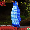Éclairage décoratif bleu de pingouin de lumière de motif de DEL 3D pour la décoration de Chritmas