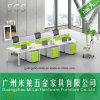 Mobília modular tradicional da tabela da estação de trabalho do escritório com pé de aço