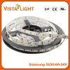 Luz de tira flexible impermeable de IP20 DC24V LED