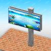 掲示板を広告する都市屋外の使用された二重表面Unipole