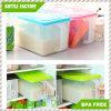 Contenitori chiusi ermeticamente per il contenitore di casella di memoria del frigorifero del contenitore di contenitore di alimento del Crisper dell'alimento della cucina dello zucchero e della farina con la maniglia