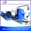 Kupfernes Rohr-Profil CNC-Multifunktionsplasma/Flamme-Ausschnitt-Loch-Bohrmaschine