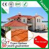 Tuile de toit en acier enduite en métal de construction de puce en pierre légère colorée de matériaux