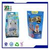 Sacchetto di imballaggio di plastica dell'alimento per animali domestici della parte inferiore piana con la chiusura lampo