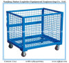 Galvanizied ou Powder Coating Folding e Stackable Steel Container