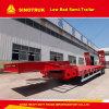 Pared lateral abierta 3 Ejes 45t de superficie plana Vehículo Especial del remolque del camión semi
