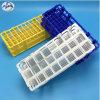 Crémaillère en plastique d'éprouvette pour le laboratoire