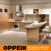 Oppein Gold Acrylic L-Shape Luxury Kitchen Cabinet (OP14-108)