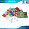 Drapeaux décoratifs de fenêtre de voiture de polyester fait sur commande (NF08F01013)