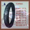 Calidad estupenda, neumático sin tubo de la motocicleta con 60/80-17tl, 70/80-17tl, 80/80-17tl, 90/80-17tl, 60/90-17tl, 70/90-17tl, 80/90-17tl, 80/100-14tl
