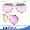 Óculos de sol reflexivos do metal do vintage dos Eyeglasses das mulheres