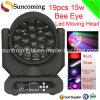 effet léger principal mobile neuf de lavage de faisceau d'oeil de la version DEL de 19PCS x de 15W grand