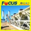 Planta de mistura concreta estacionária do transporte de correia Hzs60, planta de tratamento por lotes concreta