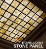 Tuile composée en pierre translucide de Panneau-Marbre/granit et en verre