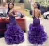 Le bal d'étudiants coloré de sirène d'usager de bille d'organza sexy de robes rectifie P17918