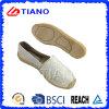 Chaussures plates et confortables de mode de pêcheur de santals de femmes avec le diamant (TN36720)