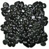 磨かれた黒い石造りのモザイク・タイル