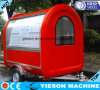 chariots mobiles électriques de réchauffeur de nourriture de fibre de verre de 2.25m à vendre