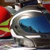 習慣によって印刷される楕円形の形の反射帽子のステッカー