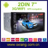 2 DIN Android 4.4 GPS Player Radio van Universal Car DVD met Bt/Navigation/Aux in Free 8g Map Card WiFi 3G