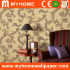 Decorative à la maison Wallpaper avec Leaves Patterned