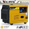 Tipo silencioso conjuntos de generador diesel refrigerados (DG6500SE)