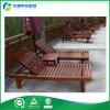 Mobília ao ar livre de madeira/Sunbed de madeira/Daybed de madeira com tabela de chá (FY-029CB)