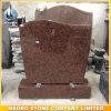 La serpentina dritta del monumento del granito supera il granito di colore rosso dei Headstones