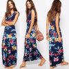 Платье партии нового типа 2016 флористическое напечатанное безрукавный длиннее